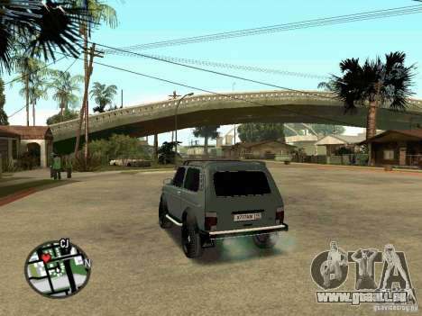 21213 Niva LADA pour GTA San Andreas laissé vue
