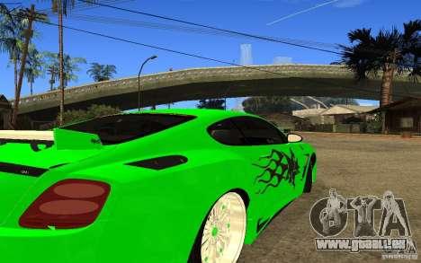 Bentley Continental GT pour GTA San Andreas vue de droite