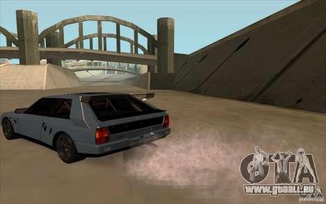 Lancia Delta Integrale pour GTA San Andreas sur la vue arrière gauche