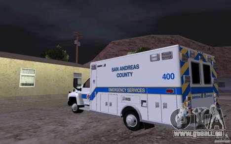 Chevrolet C4500 Ambulance pour GTA San Andreas sur la vue arrière gauche