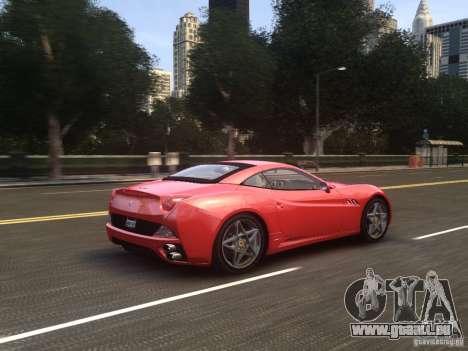 Ferrari California 2009 pour GTA 4 vue de dessus