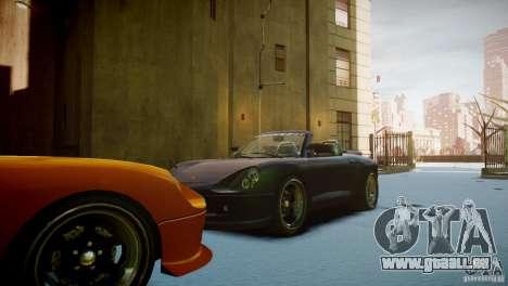 Comet Speedster pour GTA 4 Vue arrière
