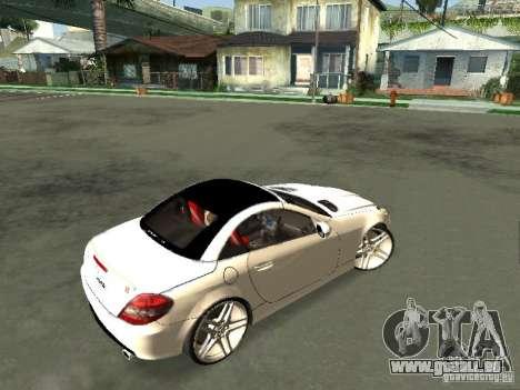 Mercedes Benz SLK 300 pour GTA San Andreas sur la vue arrière gauche
