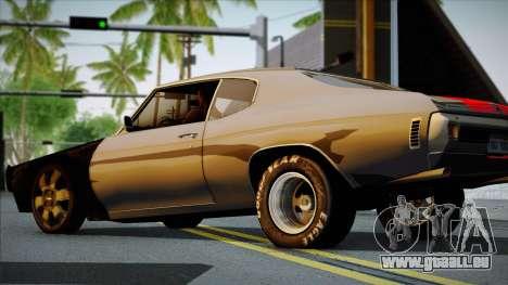 Chevrolet Chevelle SS 454 1970 pour GTA San Andreas vue de droite