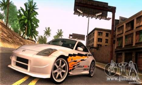 Nissan 350Z Tunable pour GTA San Andreas sur la vue arrière gauche