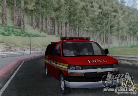 Chevrolet Express Special Operations Command für GTA San Andreas Rückansicht