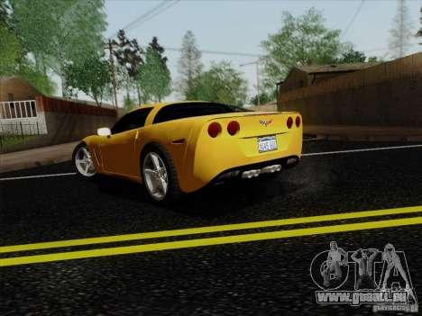 Chevrolet Corvette Z51 pour GTA San Andreas laissé vue