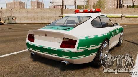 Comet Police für GTA 4 hinten links Ansicht