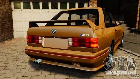 BMW M3 E30 Stock 1991 pour GTA 4 Vue arrière de la gauche