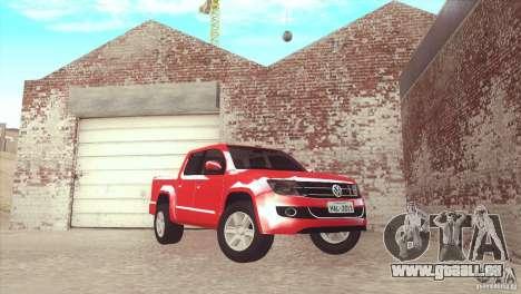 Volkswagen Amarok TDI Trendline 2013 pour GTA San Andreas laissé vue