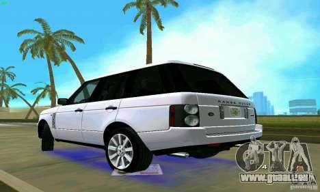 Land Rover Range Rover Supercharged 2008 pour une vue GTA Vice City de la gauche
