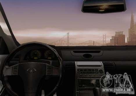 Infiniti G35 für GTA San Andreas Unteransicht