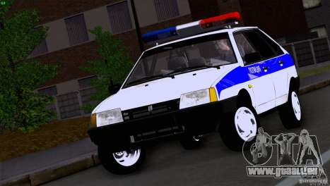 Police Vaz 2109 pour GTA San Andreas