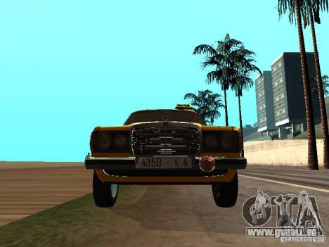 Mercedes-Benz 240D Taxi für GTA San Andreas Rückansicht