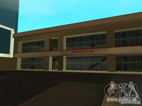Salon de l'automobile Porsche pour GTA San Andreas deuxième écran