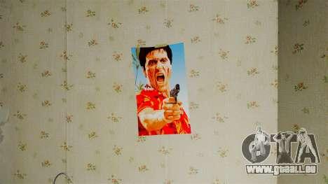 Nouvelles affiches dans le deuxième appartement pour GTA 4 sixième écran