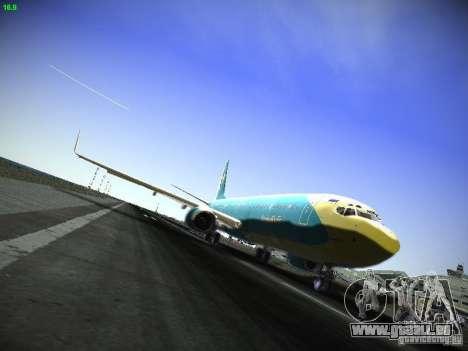 Boeing 737-84R AeroSvit Ukrainian Airlines für GTA San Andreas linke Ansicht