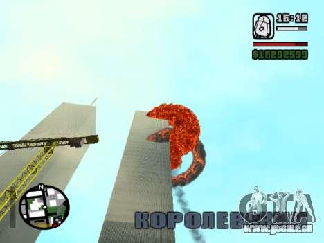 Tours jumelles BETA pour GTA San Andreas deuxième écran