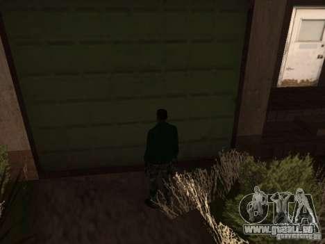 Utilisation d'entrepôt votre gang pour GTA San Andreas deuxième écran