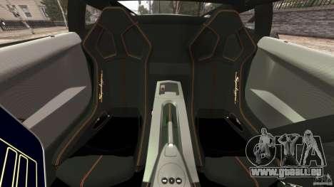 Lamborghini Gallardo LP570-4 Superleggera Police pour GTA 4 est une vue de l'intérieur