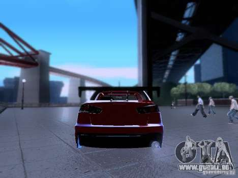 Mitsubishi Lancer Evolution X v2 Make Stance für GTA San Andreas Innenansicht
