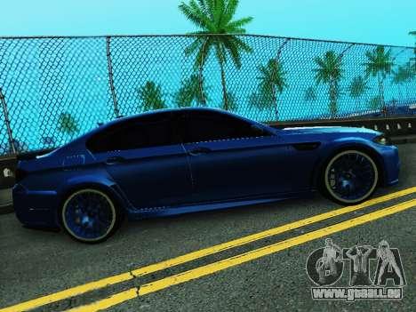 BMW M5 F10 HAMANN pour GTA San Andreas vue de droite