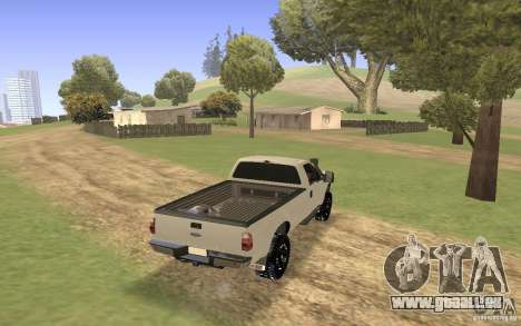 Ford F-250 pour GTA San Andreas laissé vue