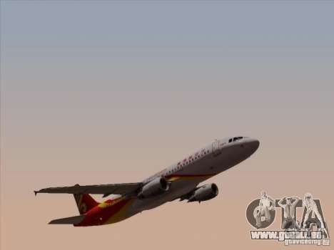 Airbus A320-214 Hong Kong Airlines pour GTA San Andreas vue intérieure