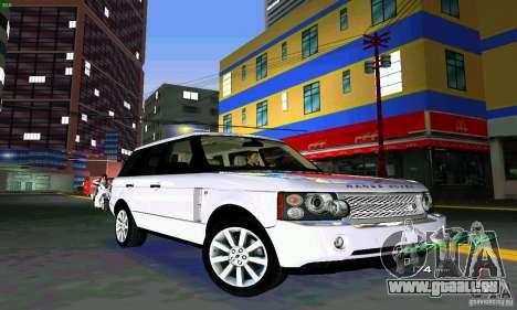 Land Rover Range Rover Supercharged 2008 pour une vue GTA Vice City de l'intérieur
