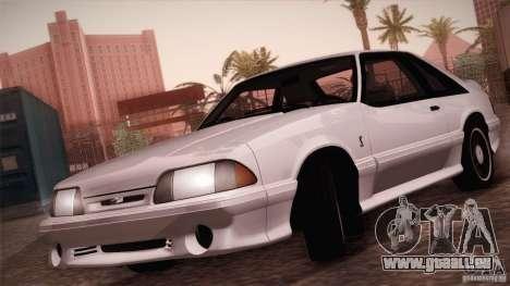 Ford Mustang SVT Cobra 1993 pour GTA San Andreas vue intérieure