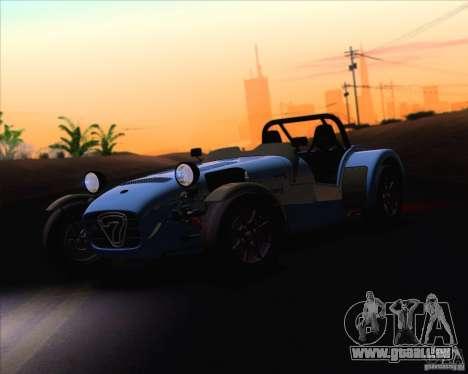 Caterham Superlight R500 pour GTA San Andreas vue intérieure