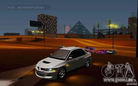 Mitsubishi Lancer Evo VIII GSR pour GTA San Andreas