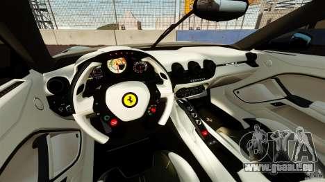 Ferrari F12 Berlinetta DCM für GTA 4 Rückansicht