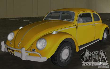 Volkswagen Beetle 1963 pour une vue GTA Vice City de l'intérieur