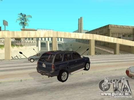Chevrolet TrailBlazer 2003 pour GTA San Andreas vue de droite