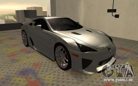 Lexus LFA AutoVista 2010 für GTA San Andreas linke Ansicht