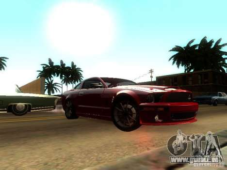 Ford Shelby GT 2008 für GTA San Andreas zurück linke Ansicht