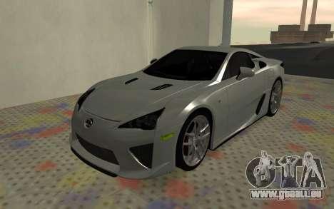Lexus LFA AutoVista 2010 für GTA San Andreas