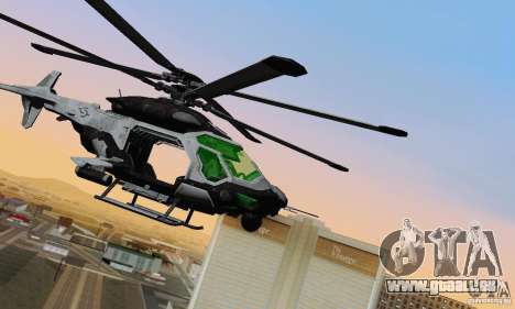AH-2 Сrysis 50 C.E.L.L. Hubschrauber für GTA San Andreas linke Ansicht