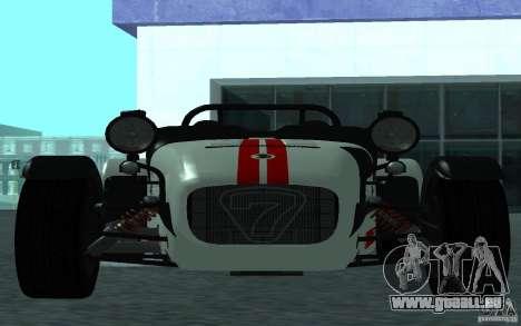 Caterham R500 pour GTA San Andreas laissé vue