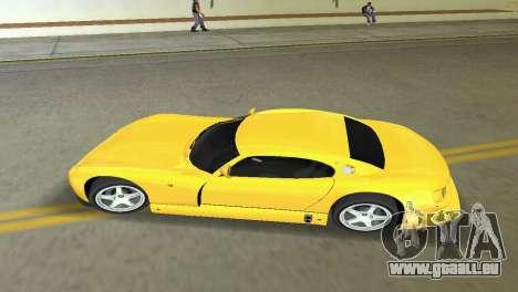 TVR Cerbera Speed 12 pour GTA Vice City sur la vue arrière gauche