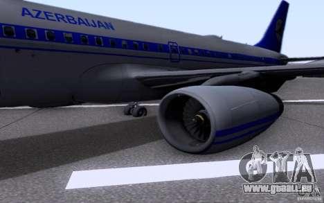 Airbus A-319 Azerbaijan Airlines pour GTA San Andreas vue arrière