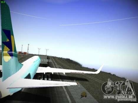 Boeing 737-84R AeroSvit Ukrainian Airlines pour GTA San Andreas vue intérieure