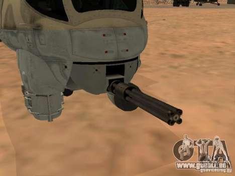 Mi-24p für GTA San Andreas Unteransicht
