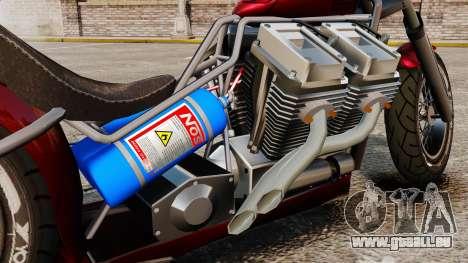 Dragbike Street Racer pour GTA 4 Vue arrière