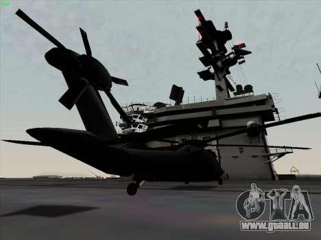 MH-X Stealthhawk für GTA San Andreas zurück linke Ansicht