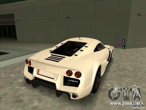 Noble M600 pour GTA San Andreas sur la vue arrière gauche
