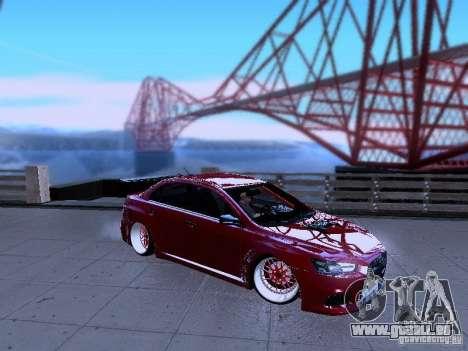 Mitsubishi Lancer Evolution X v2 Make Stance pour GTA San Andreas laissé vue