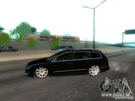 Volkswagen Passat B6 Variant Com Bentley 20 Fixa pour GTA San Andreas laissé vue