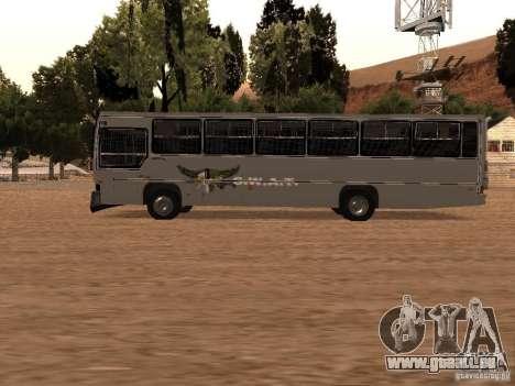 Mercedes Benz SWAT Bus pour GTA San Andreas laissé vue